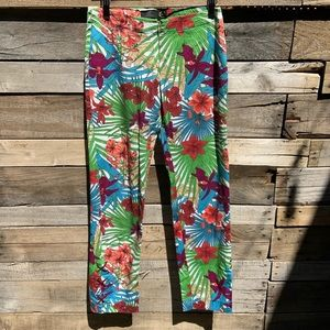 🌻Just Cavalli Floral Casual Pants | Size 30